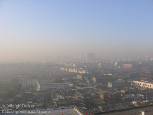 One of the clearest days of the year in Datong, China